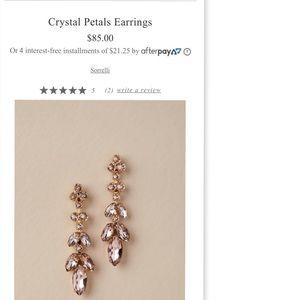 BHLDN Crystal Petal Earrings